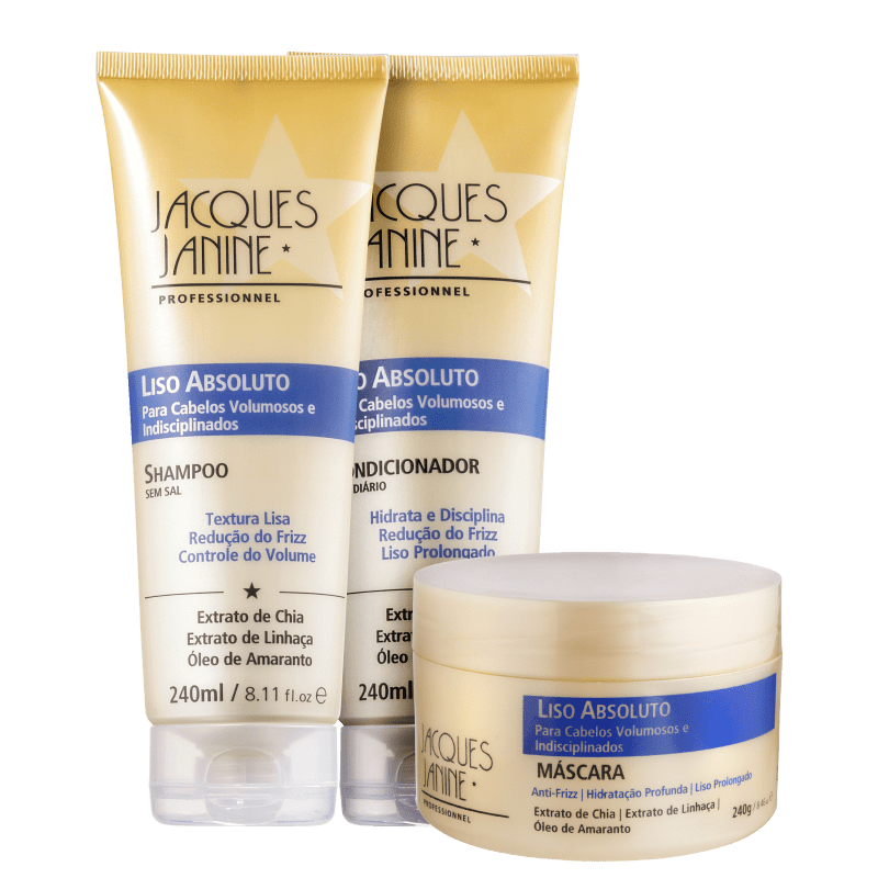 Kit Jacques Janine Professionnel Liso Absoluto Trio (3 Produtos)