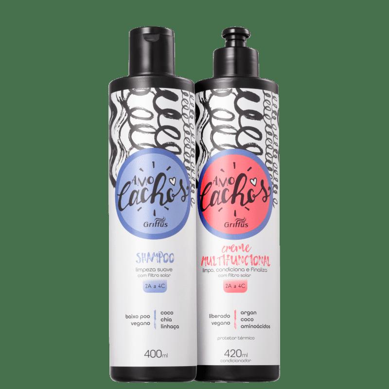 Kit Griffus Amo Cachos Multifuncional Duo (2 Produtos)