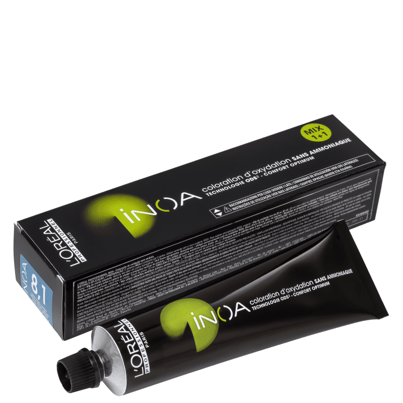 L'Oréal Professionnel Inoa 8.1 Louro Claro Acinzentado - Coloração 60g