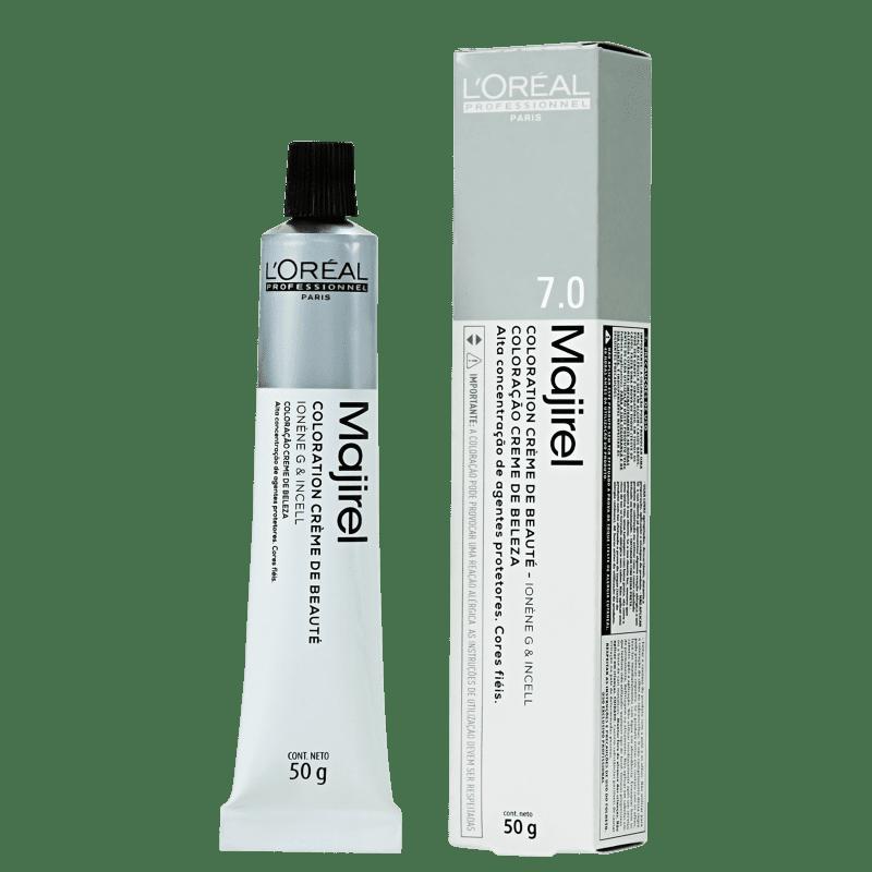 L'Oréal Professionnel Majirel 7.0 Louro Natural Profundo - Coloração 50g