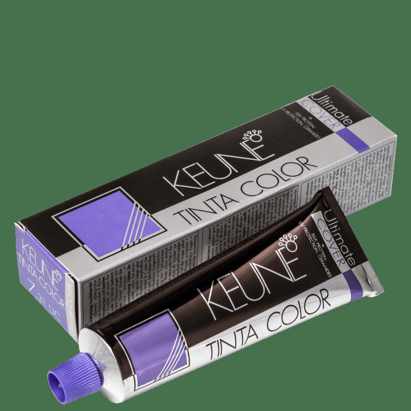 Keune Tinta Color Ultimate Cover 7.31 Louro Médio Dourado Cinza - Coloração 60ml