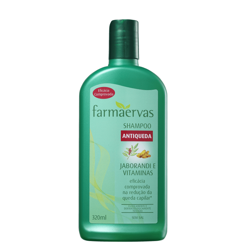 Farmaervas Jaborandi e Vitaminas - Shampoo Antiqueda 320ml