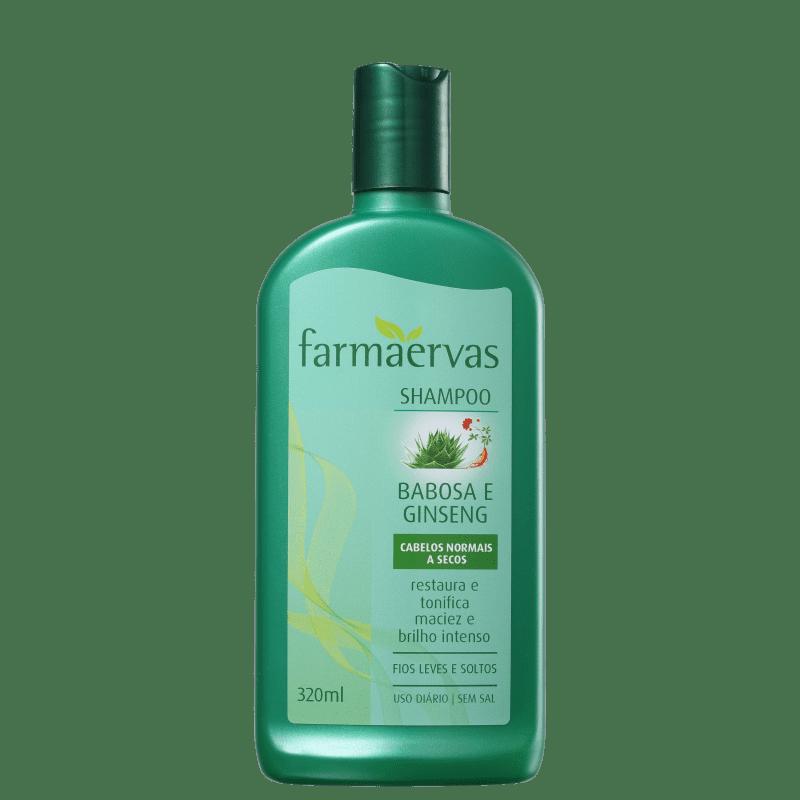 Farmaervas Babosa e Ginseng - Shampoo 320ml