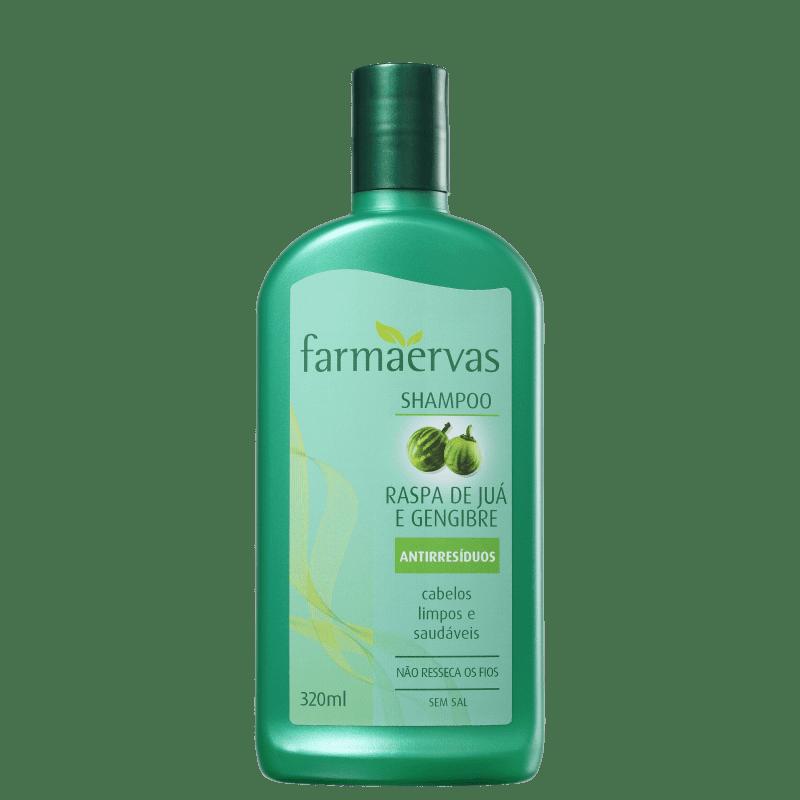 Farmaervas Raspa de Juá e Gengibre - Shampoo Antirresíduo 320ml