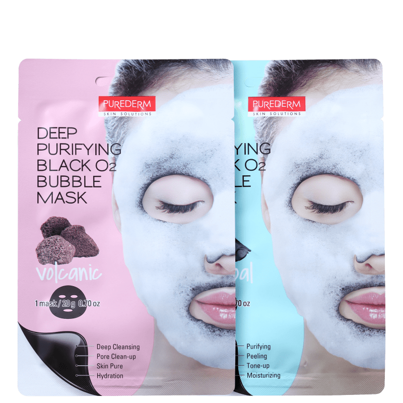 Kit Purederm Deep Purifying Black O2 (2 Produtos)