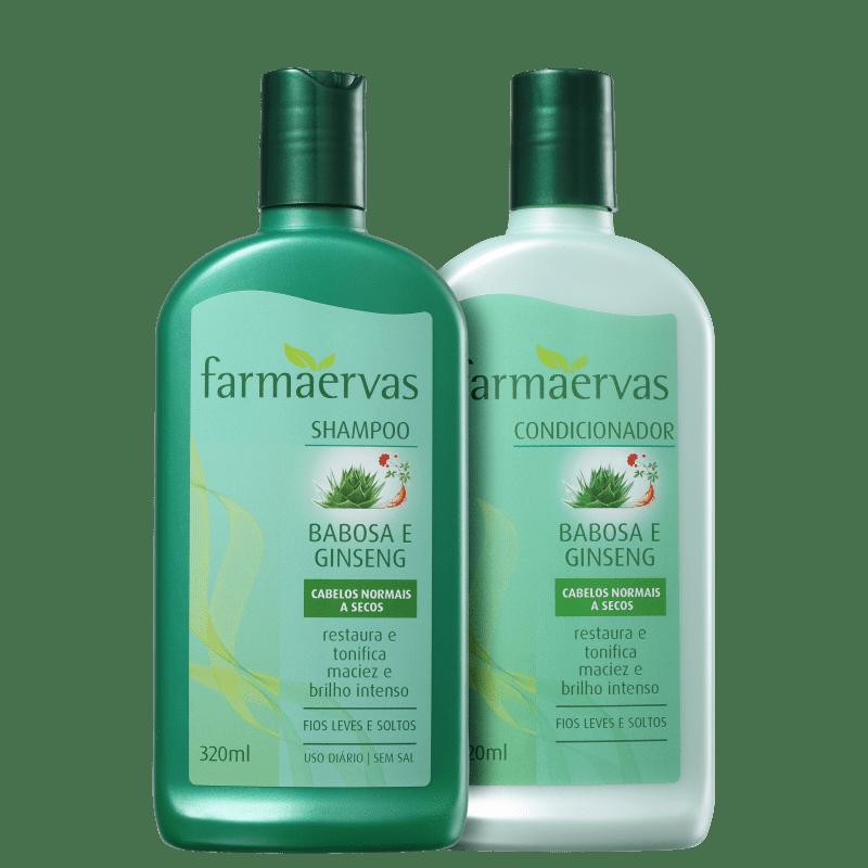 Kit Farmaervas Babosa e Ginseng Duo (2 Produtos)