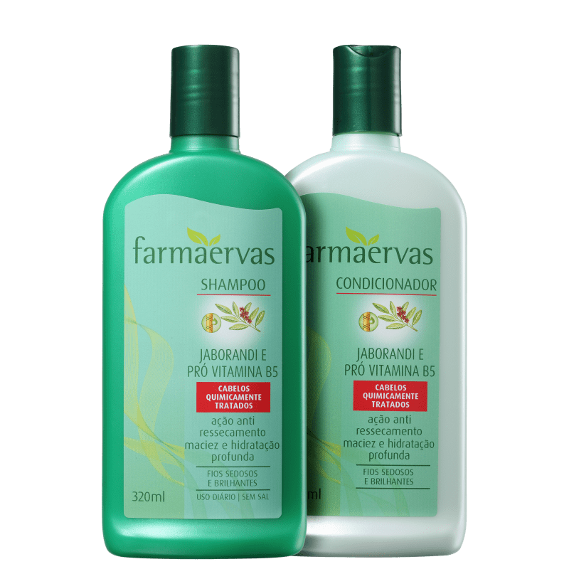Kit Farmaervas Jaborandi e Pró Vitamina B5 Duo (2 Produtos)