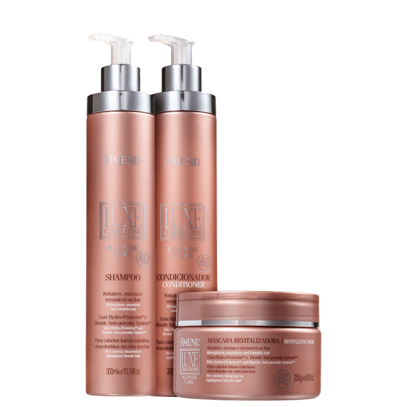 Kit Amend Luxe Creations Blonde Care Trio (3 Produtos)