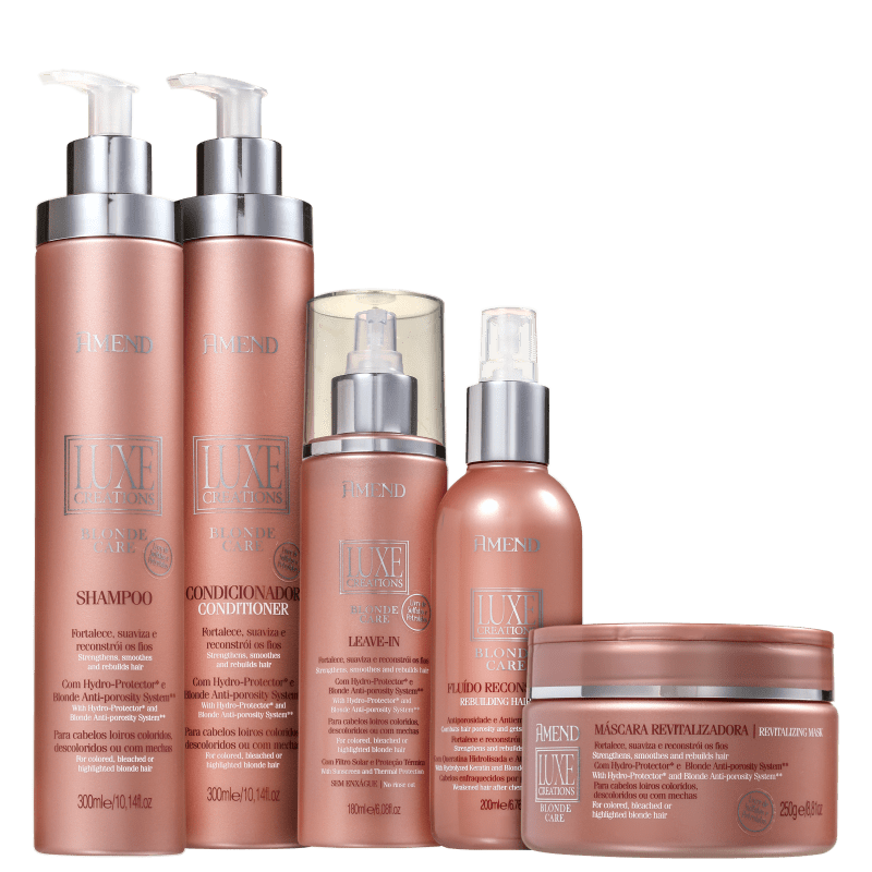 Kit Amend Luxe Creations Blonde Care Full (5 Produtos)