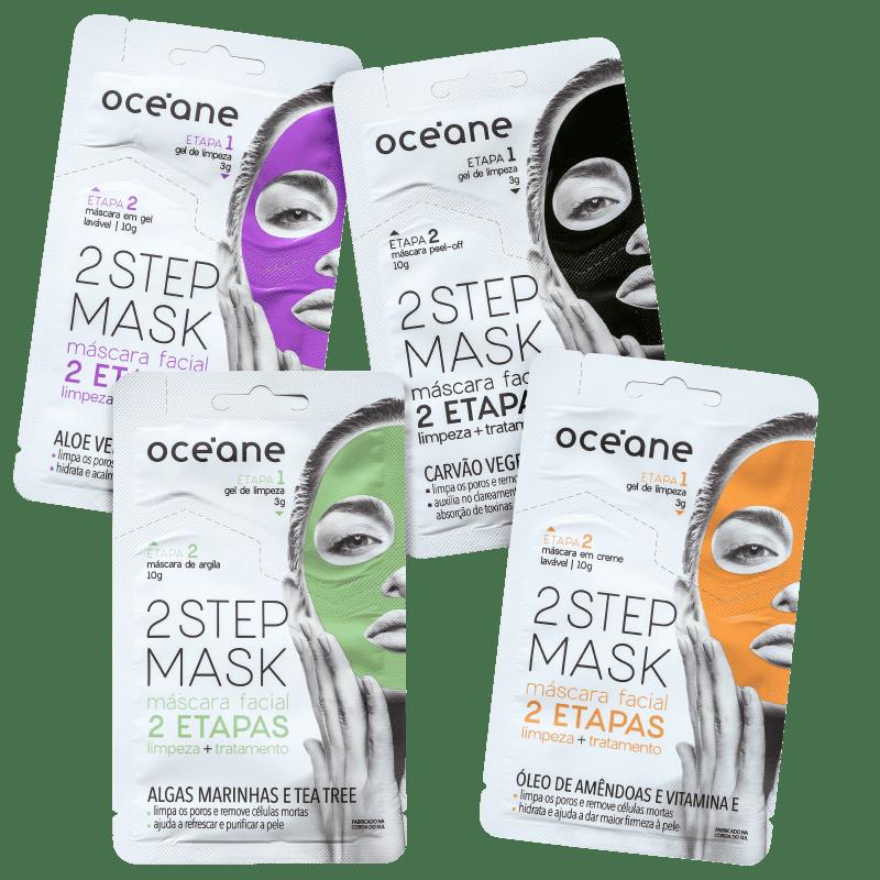 Kit Océane Máscara Facial 2 Steps (4 Produtos)