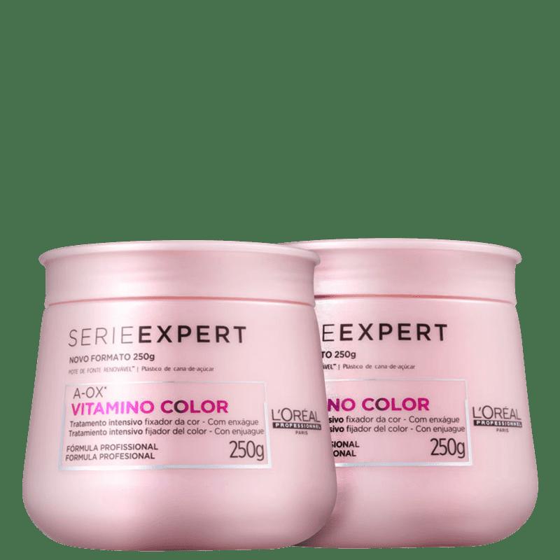 Kit L'Oréal Professionnel Expert Vitamino Color A-OX - Máscaras Capilares 2x250g