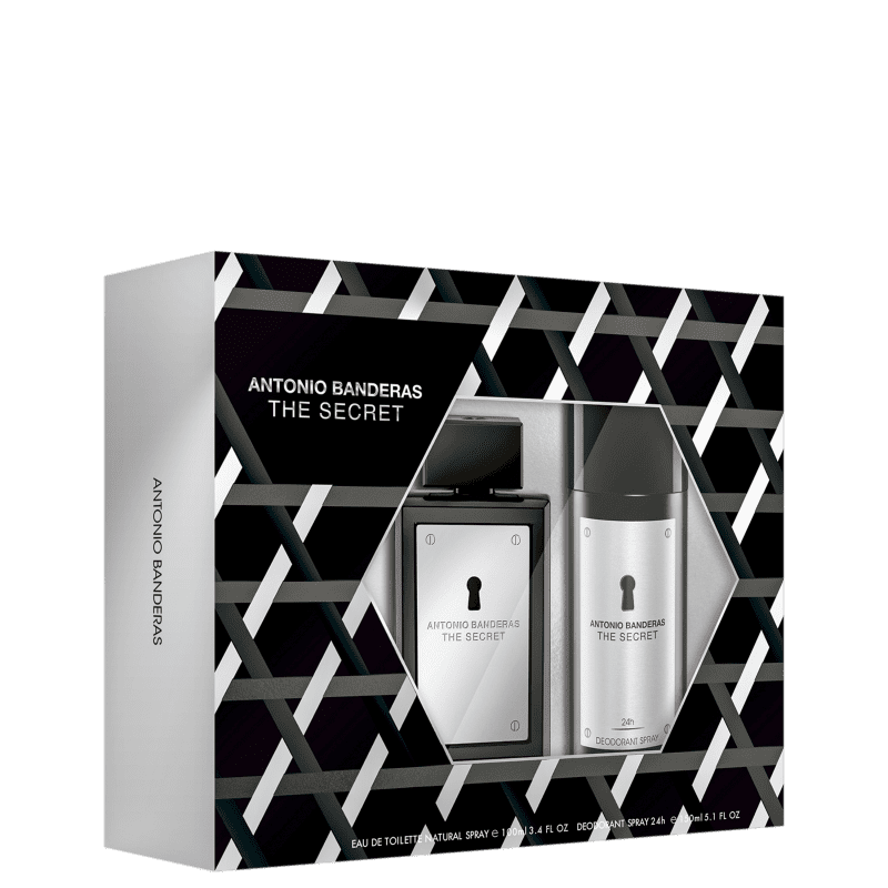 Conjunto The Secret Antonio Banderas Masculino - Eau de Toilette 100ml + Desodorante 150ml