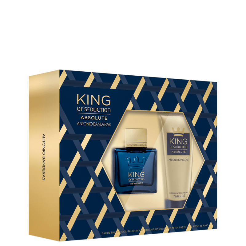 Conjunto King of Seduction Absolute Antonio Banderas Masculino - Eau de Toilette 100ml + Pós-Barba 75ml