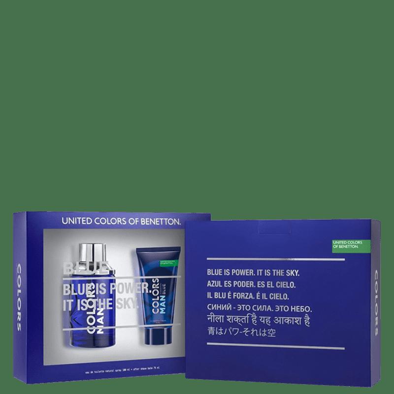Conjunto Colors Man Blue Beard Benetton Masculino - Eau de Toilette 100ml + Pós-Barba 75ml