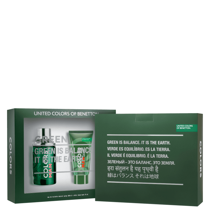 Conjunto Colors Man Green Beard Benetton Masculino - Eau de Toilette 100ml + Pós-Barba 75ml