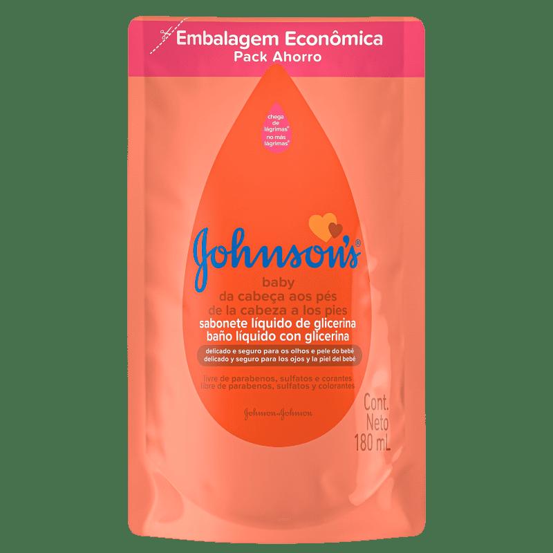 Johnson's Baby Da Cabeça Aos Pés Refil - Sabonete Líquido 180ml