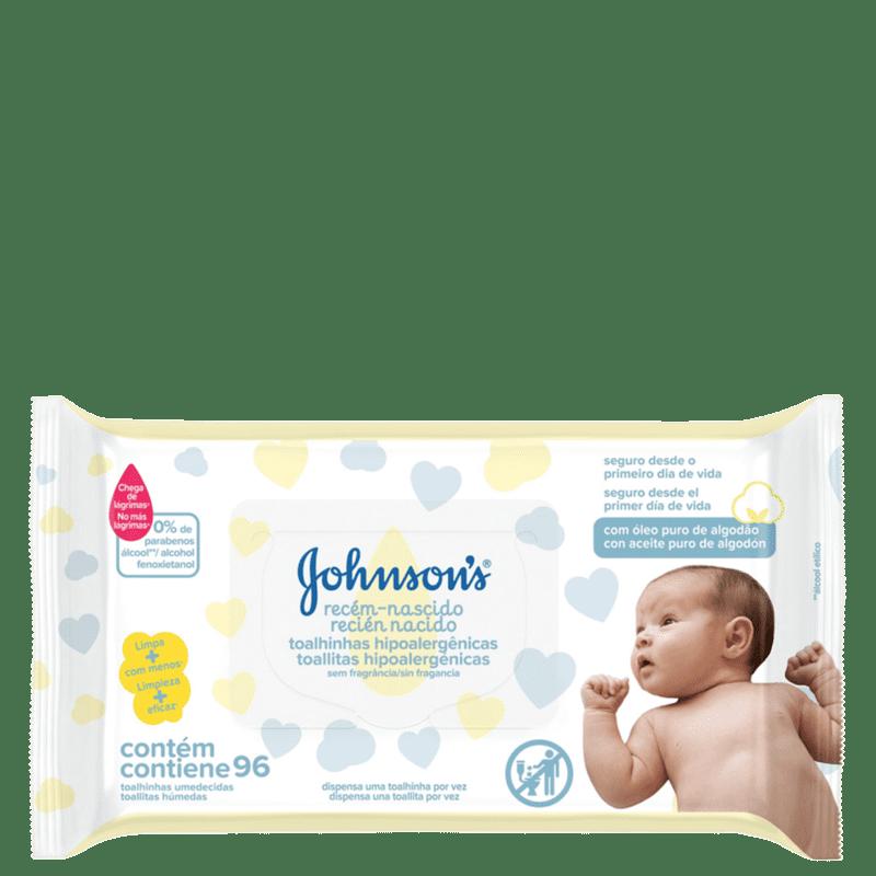 Johnson's Baby Recém-Nascido - Lenços de Limpeza (96 Unidades)