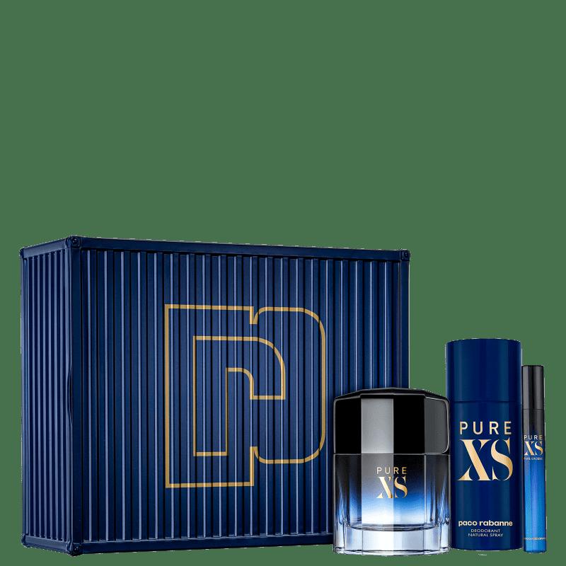 Conjunto Pure XS Trio Paco Rabanne Masculino - Eau de Toilette 50ml + Desodorante 150ml + Travel Size 10ml