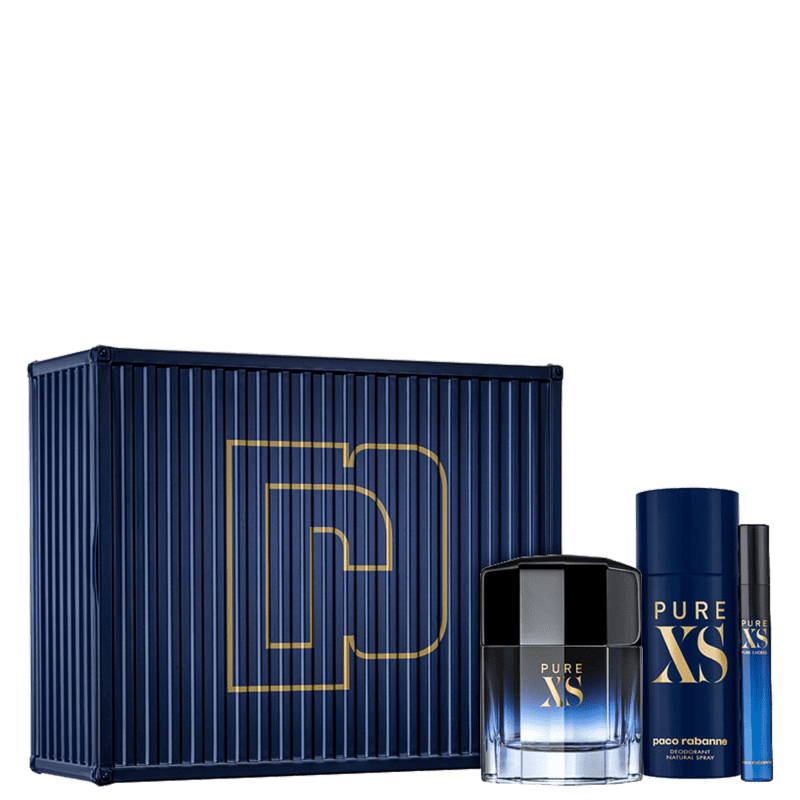 Conjunto Pure XS Plus Paco Rabanne Masculino - Eau de Toilette 100ml + Desodorante 150ml + Travel Size 10ml