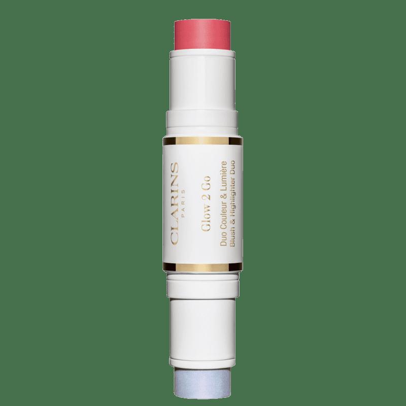 Clarins Glow 2 Go 01 Glowy Pink - Bastão Multifuncional 10g