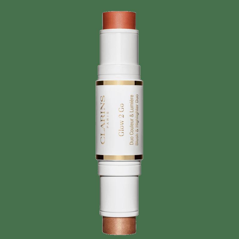 Clarins Glow 2 Go 02 Golden Peach - Bastão Multifuncional 10g
