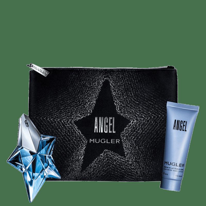 Conjunto Angel Couture Mugler Feminino - Eau de Parfum 25ml + Loção Corporal 50ml + Nécessaire