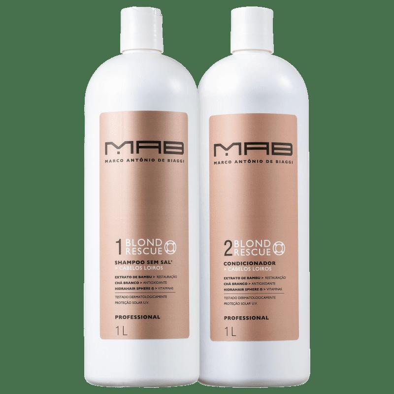 Kit MAB Marco Antônio de Biaggi Blond Rescue Duo Salão (2 Produtos)