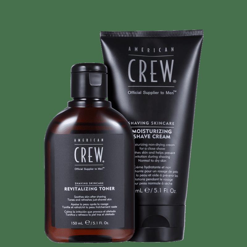 Kit Barba American Crew Shaving Skincare Moisturizing (2 Produtos)