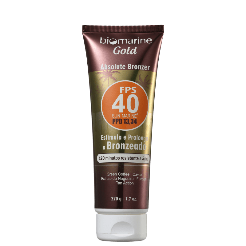 Biomarine Gold Absolute Bronzer FPS 40 - Loção Bronzeadora 220g