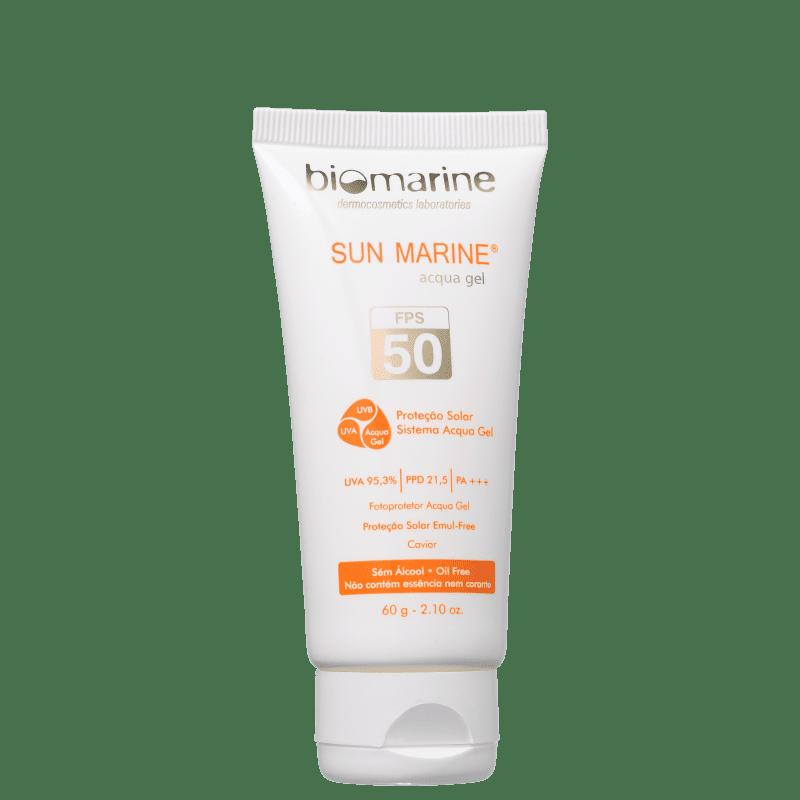 Biomarine Sun Marine Acqua Gel FPS 50 - Protetor Solar Facial 60g