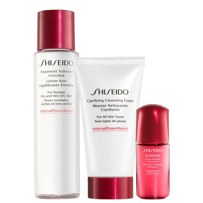 Kit Shiseido Cleanser Discovery (3 Produtos)