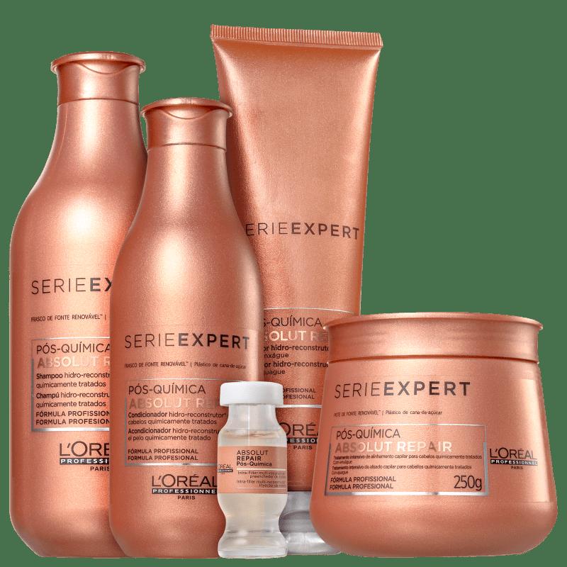 Kit L'Oréal Professionnel Absolut Repair Pós-Química Completo (5 Produtos)