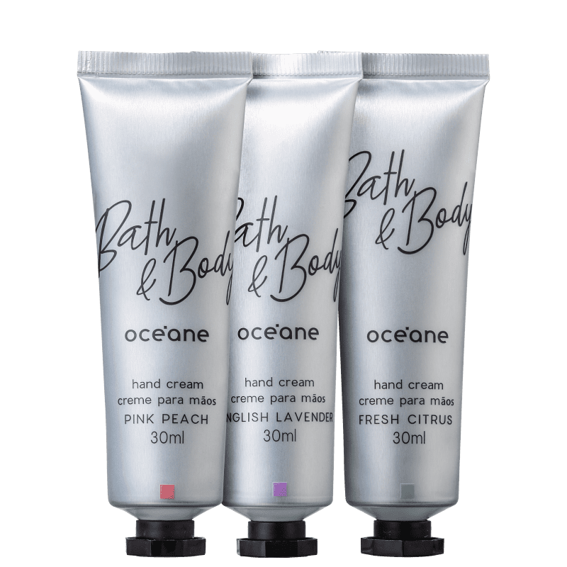 Kit Océane Bath & Body Hand Cream (3 Produtos)
