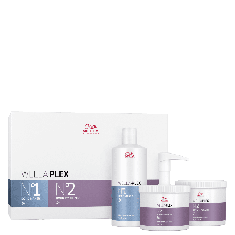 Kit Wella Professionals WellaPlex Bond Builder System Salon (3 Produtos)
