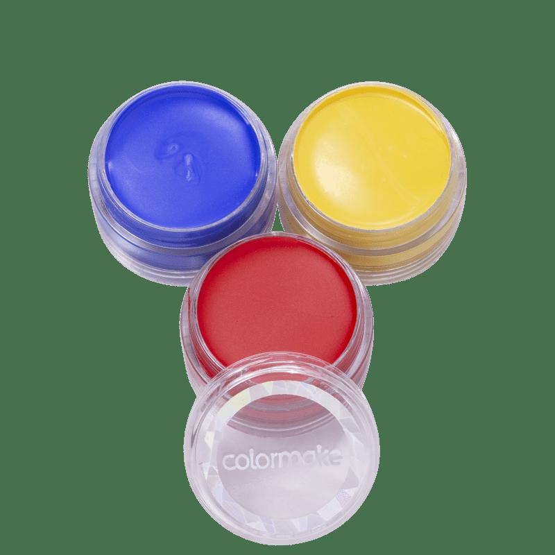 Kit Colormake Cartela de Tinta Facial Cremosa (3 Unidades)