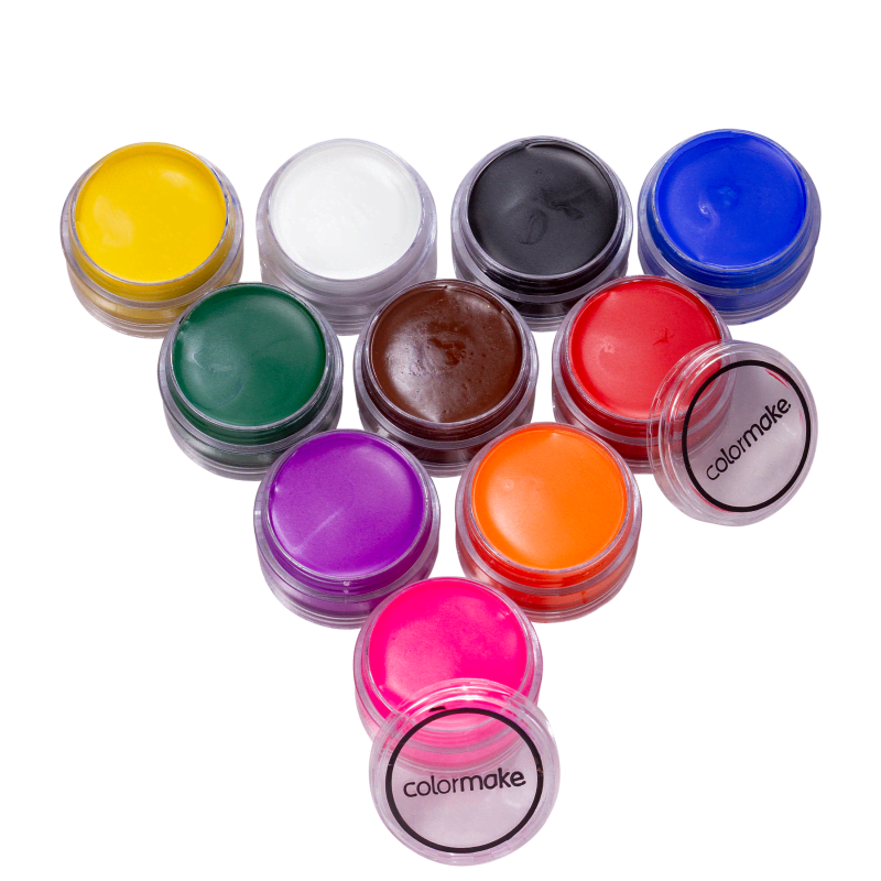 Kit Colormake Tinta Facial Cremosa (10 Unidades)