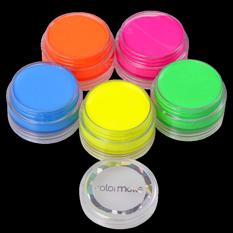 Kit Colormake Fluor Tinta Facial (5 Unidades)