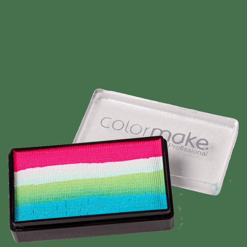 Colormake Blocks Verde Escuro, Verde Claro, Branco e Pink - Tinta 30g