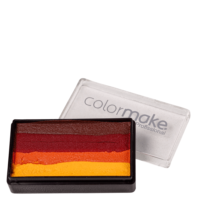 Colormake Blocks Marrom, Vermelho, Laranja e Amarelo - Tinta 30g