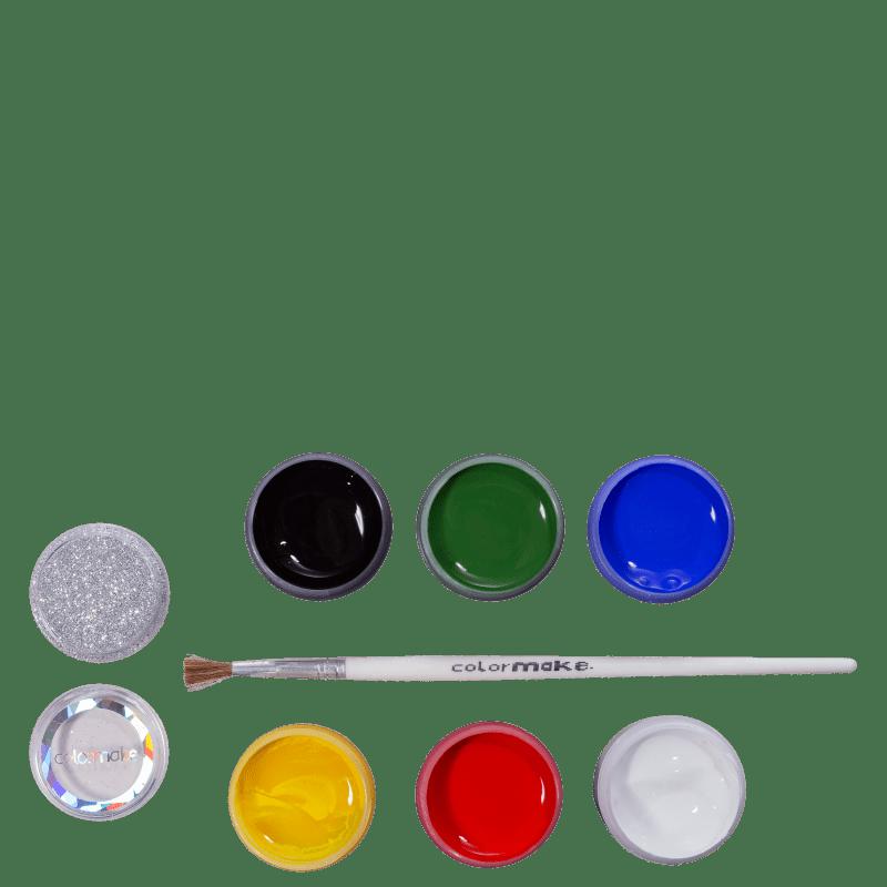 Kit Colormake Tinta Facial Glitter (8 Produtos)