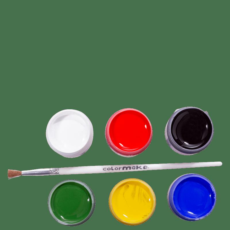 Kit Colormake Tinta Facial Pincel (7 Produtos)