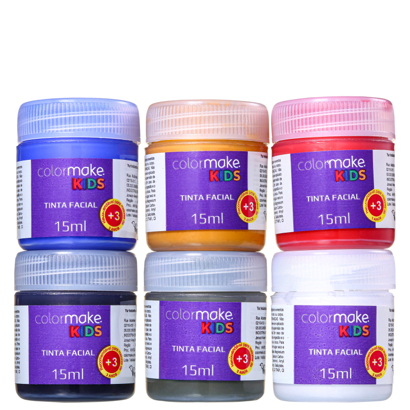 Kit Colormake Kids Glitter (8 Produtos)