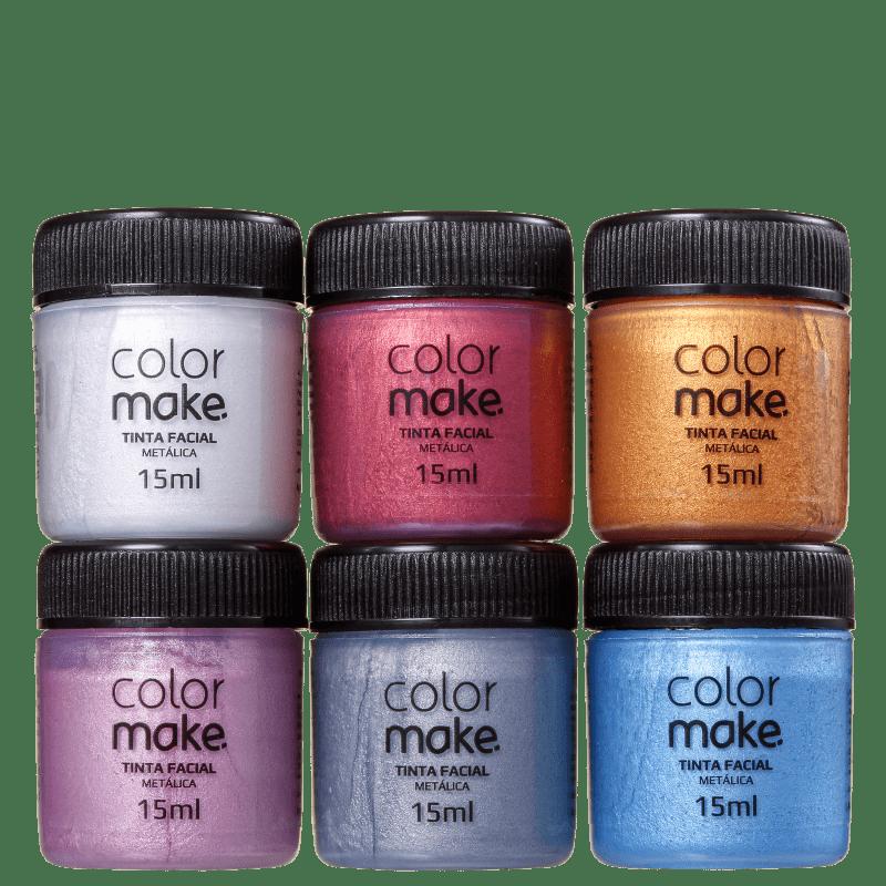 Kit Colormake Tinta Metálica Cartela (6 Unidades)