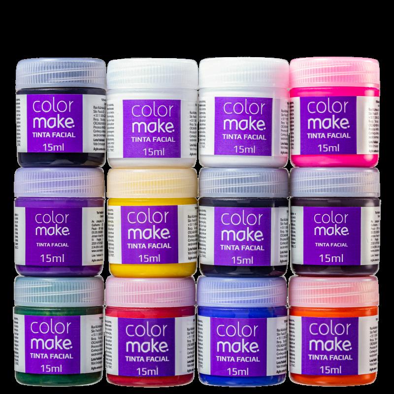 Kit Colormake Cores Sortidas - Tinta Líquida 12x15ml