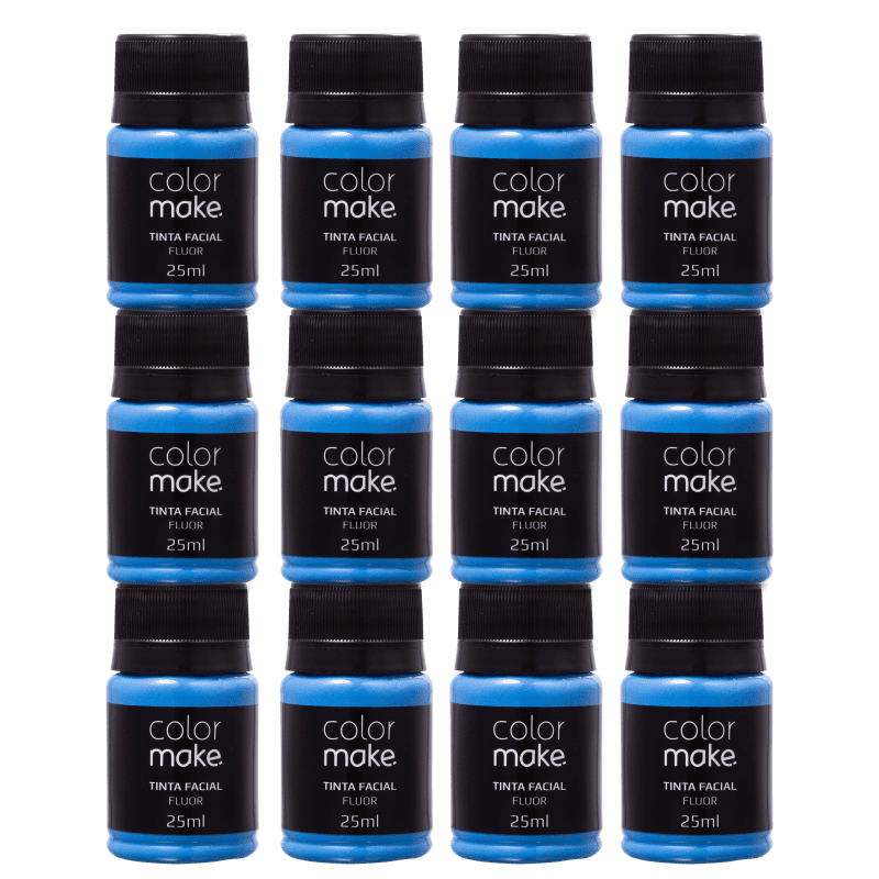 Kit Colormake Tinta Facial Azul (12 Unidades)