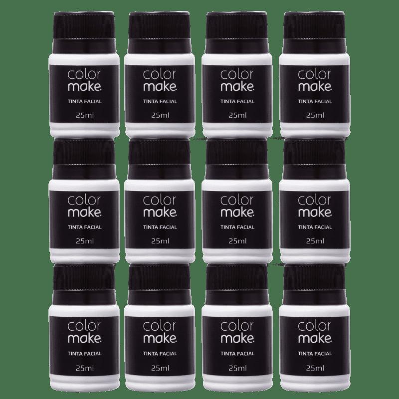 Kit Colormake Tinta Facial Branco (12 Unidades)