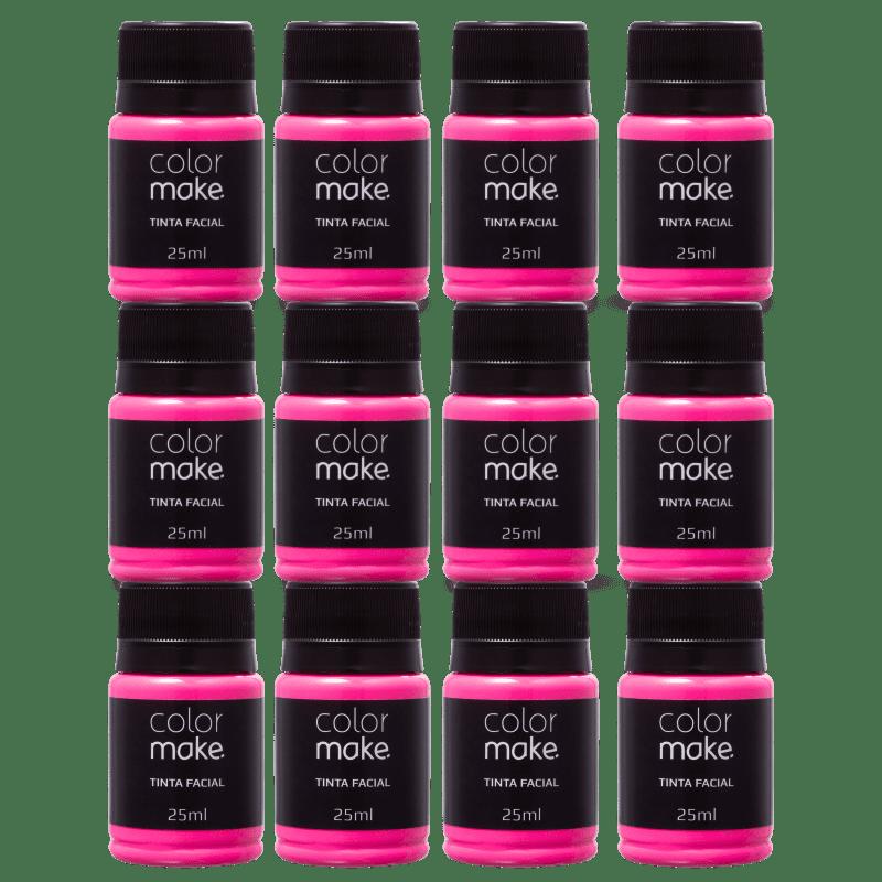 Kit Colormake Tinta Facial Pink (12 Unidades)