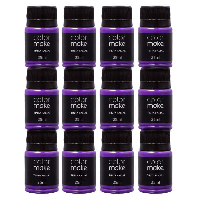 Kit Colormake Tinta Facial Roxo (12 Unidades)
