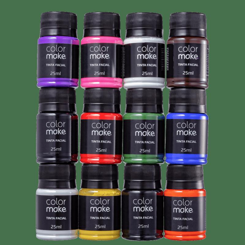 Kit Colormake Cores Sortidas - Tinta Líquida 12x25ml