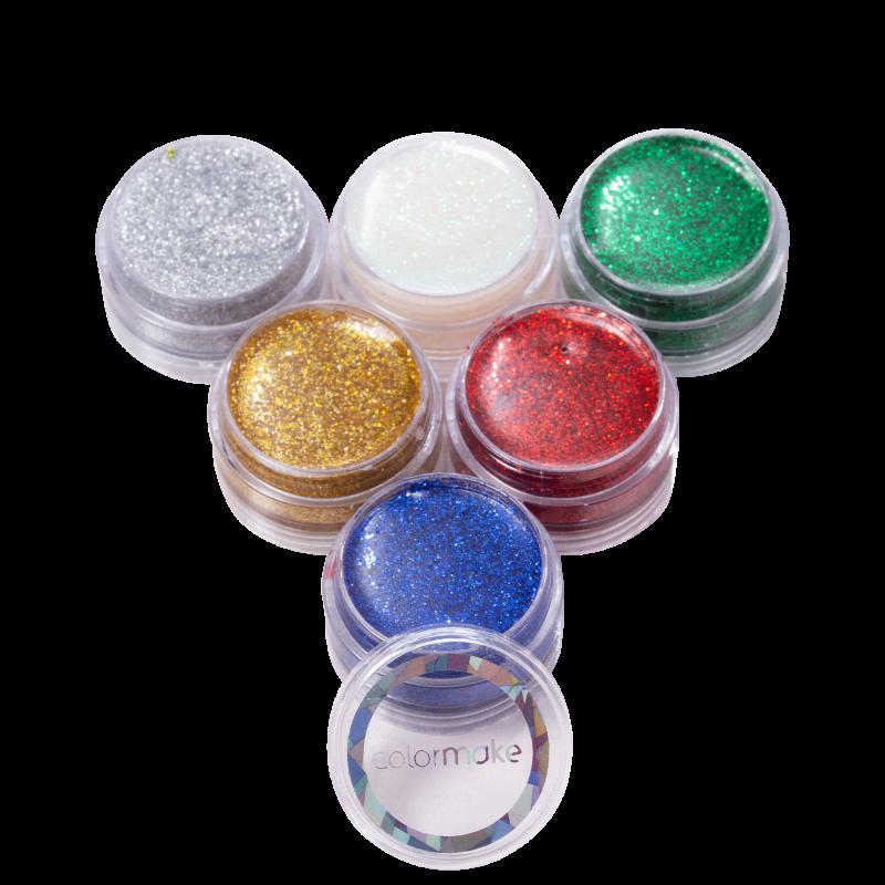 Kit Colormake Cartela de Glitter Cremoso (6 Unidades)